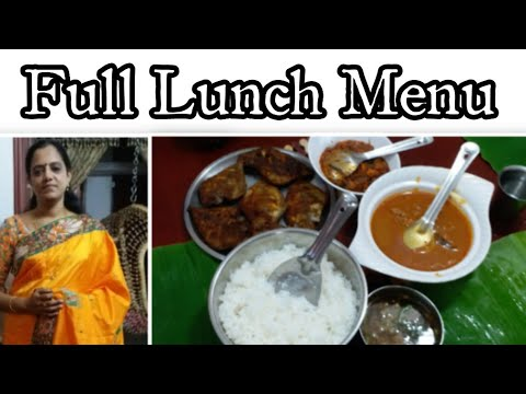 Full Lunch menu for Guest/prawn masala curry,Fish kulambu, Fish Fry/Sea food recipe in Tamil