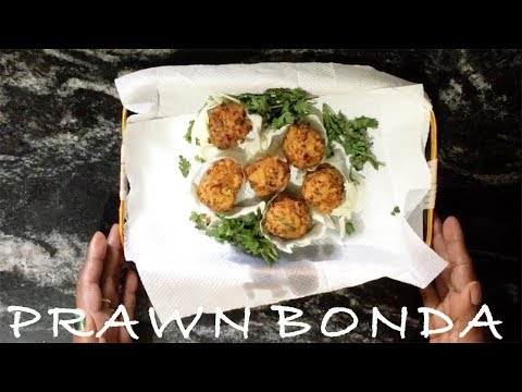 Prawns Bonda Recipe | Pondicherry style Prawn Bonda | Simple and Easy Prawn Bonda in Tamil