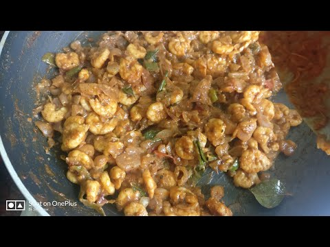 Prawn fry in Tamil || SasiBhavan Samaiyal