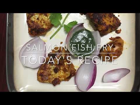 Salmon Fish Fry/kaala Meen Varuval/Kala Meen recipe/machili fry/how to make easy fish tawa fry Tamil