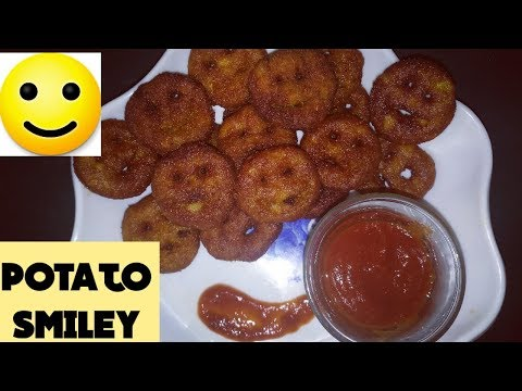 Potato Smiley Recipe In Tamil/Homemade Potato Smiley/Emoji Fries Recipe/How To Make Potato Smiley🙂