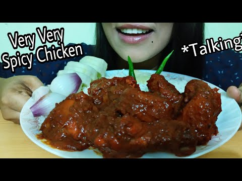 Eating Bashmati Rice With Very Very Spicy Chicken Gravy (eating show)