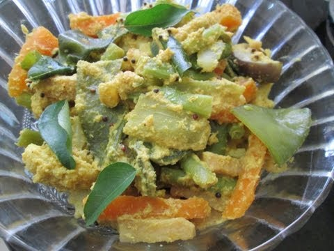Kaikari aviyal in tamil - kerala adai avial recipe - vegetables in coconut & curd curry
