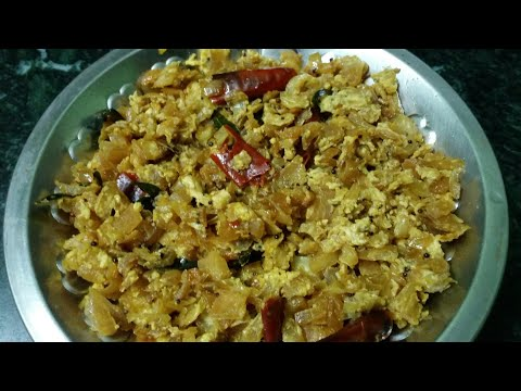How to make egg mixed muttaikose poriyal/In Tamil video.by Arul Tv!