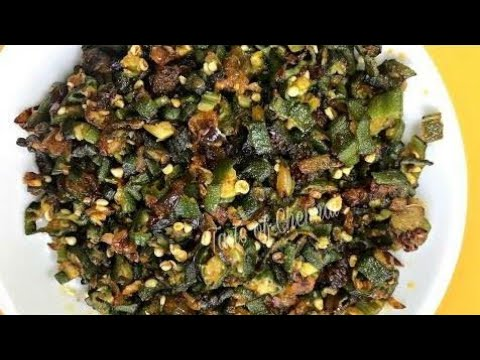 Vendakkai poriyal | Lady's Finger poriyal| How to make Vendakkai poriyal in Tamil.