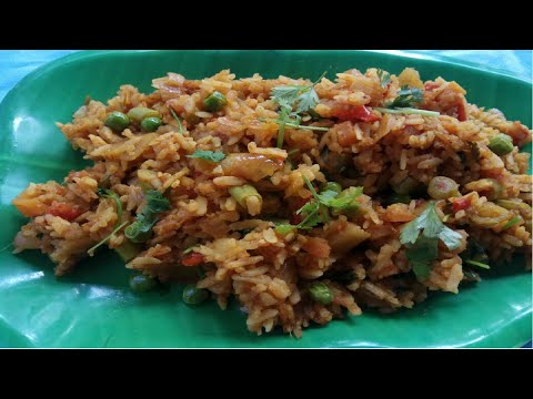 Aval Biryani Recipe in Tamil | Flattened Rice Veg Pulao | Poha Vegetable Biryani