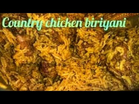 Country Chicken Biryani in Tamil /Naatukoli Biryani / Country Chicken Biryani in Pressure Cooker