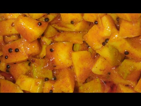 Spicy raw Mango pickle/side dish😋/easy style of making/in tamil/delicious n tasty🤩