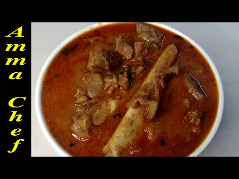 அசத்தலான மட்டன் குழம்பு | Mutton Kuzhambu recipe in Tamil | How to make Mutton Gravy recipe in tamil