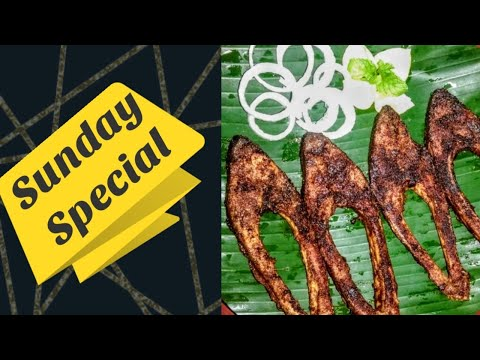 Vavval Meen Varuval - Pomfret Fish Fry -  in Tamil / வவ்வால் மீன் வருவல் - Sunday Special