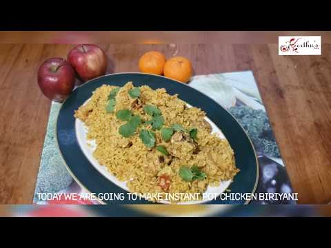 Instant pot chicken biriyani in tamil