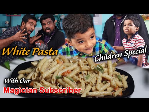 White Sauce Pasta Creamy..! Yummy..! | Children's special with Magician subscriber | Jabbar Bhai