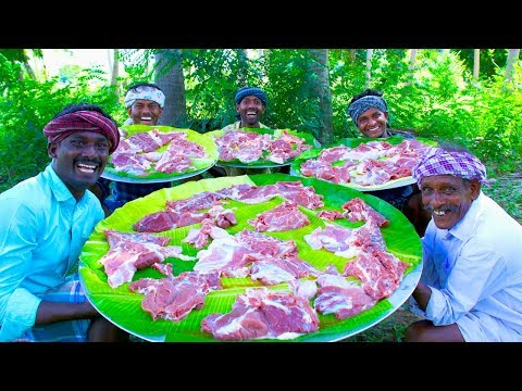 MUTTON 65 | Boneless Mutton Fry Recipe Cooking In Village | Cooking Special 65 Recipe in Mutton Meat