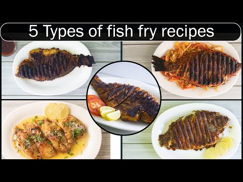 5 different Fish fry recipes | Grilled fish recipes in tamil | Fish fry recipe in tamil |