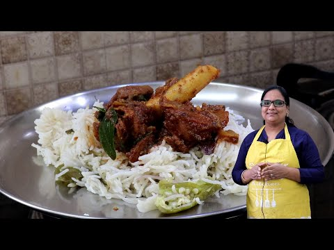 நெய் சோறு மட்டன் கறி | Ghee Rice With Mutton Curry | Lunch Menu In Tamil | SHERIN veetu sapadu #52