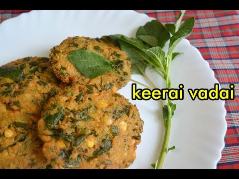 Keerai Vadai Recipe | கீரை வடை | Spinach Vada Recipe in Tamil | Evening Snacks Recipe