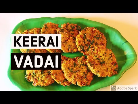 Arai Keerai Vadai | How to cook Keerai Vadai in Tamil| அரை கீரை வடை