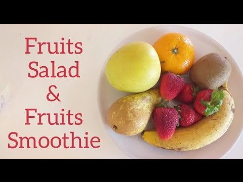 Mix Fruits Salad & Mix Fruits Smoothie in tamil | SRS tamil channel