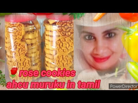 🌹 Rose cookies & Ahcu muruku in tamil