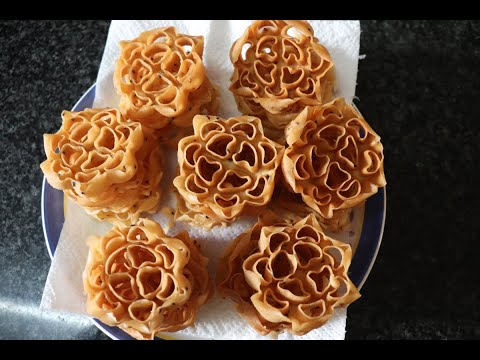 Achu Murukku / Rose Cookies Without Coconut Milk and Egg Recipe in Tamil with English subtitle