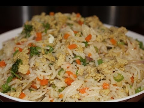 Egg fried rice recipe in Tamil - with vegetables - egg veg fried rice