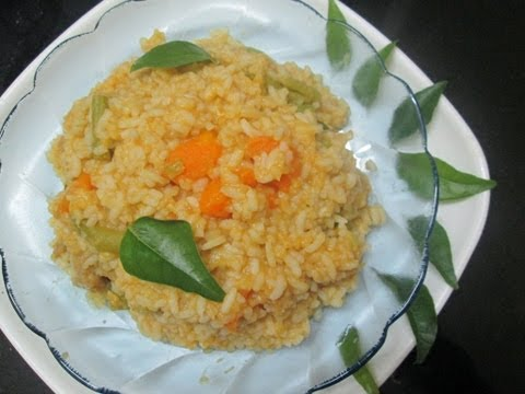 kootu choru recipe in Tamil - dhal and vegetable mixed rice - kootan soru recipe