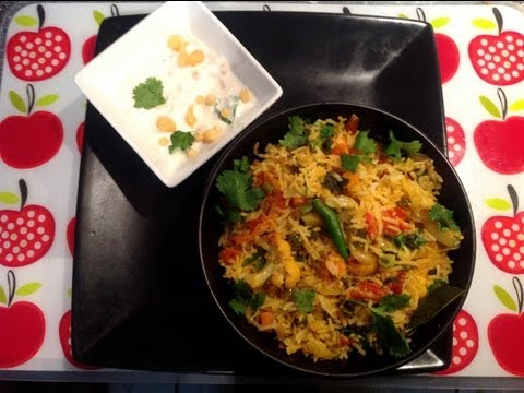 Vegetable biryani - How to cook vegetable biryani in tamil and english subtitle