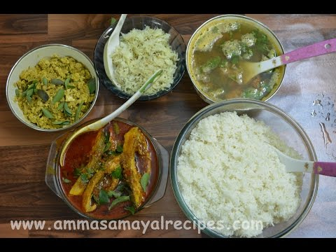 Madurai Style Fish Curry | Cabbage Fry | Egg Fry | Dal Rasam | Lunch Menu - 14