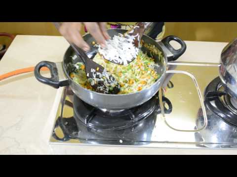 How to make Egg fried rice recipe in tamil | veg fried rice recipe
