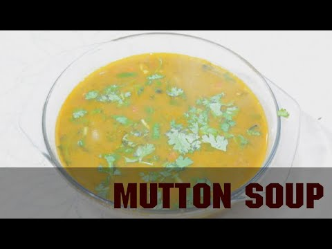 How to make mutton soup recipe in tamil  recipe in tamil l Amma samayal