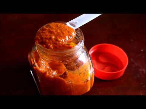 Basics of Indian Cooking: Red Chilly Chutney for Chaats  Recipe in Tamil
