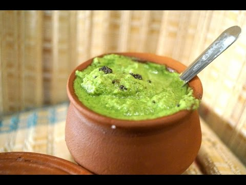 Simple and Easy Coriander Chutney (no cooking) - in Tamil