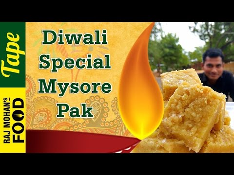 MYSORE PAK recipe in Tamil | நெய் மைசூர் பாக் | Sweet Recipe in Tamil | Diwali recipes