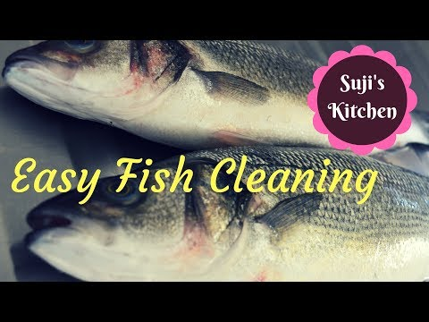 Easy method of fish cleaning in Tamil (with English subtitle)