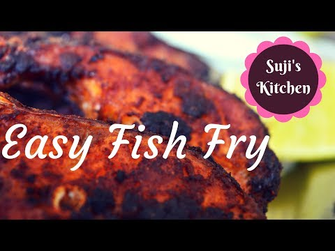 Fish fry In Tamil || Easy & quick Sea bass fry (with English subtitle)