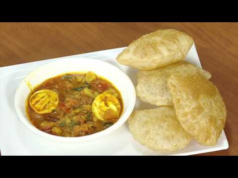 Puri Egg Potato Curry - Tamil