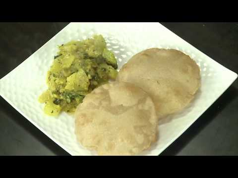 Potato Bottle Gourd Rawa Puri - Tamil