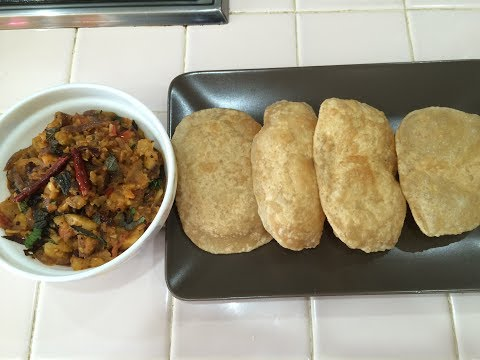 Poori and Potato Masala Recipe in Tamil