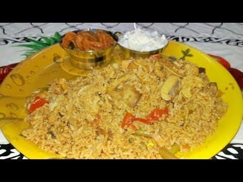 Vegetable Biryani in Tamil / Veg dum biryani in pressure cooker / காய்கறி பிரியாணி